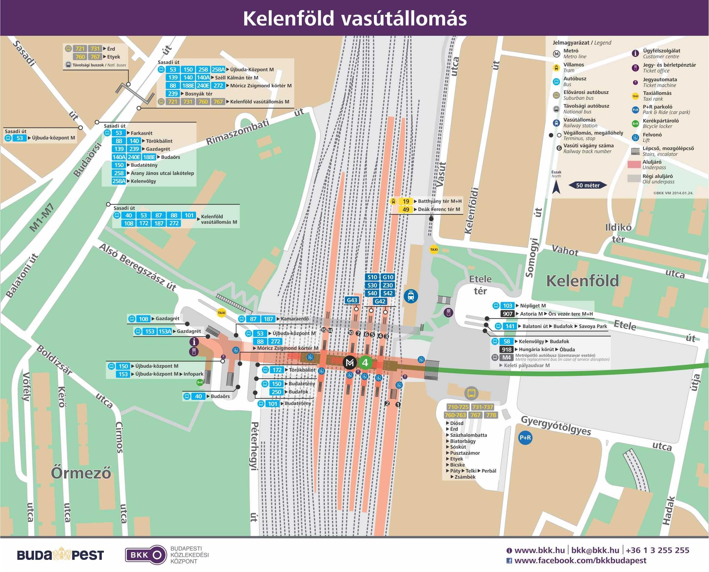 kelenföldi pályaudvar térkép Véglegesítették az M4 metró indulása utáni XXII. kerületi  kelenföldi pályaudvar térkép